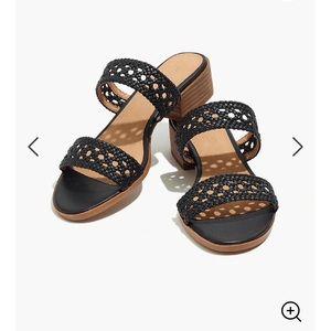 Madewell- The Marianna Basketweave Slide Sandal